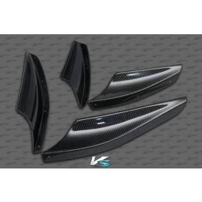 Mitsubishi EVO X Carbon Fiber Front Carnards [Set of 4]