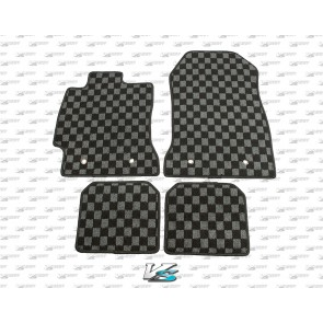 Scion FR-S / Subaru BRZ Checkered Floor Mats - GREY/BLACK